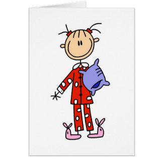Sueño sobre chica en su tarjeta de los pijamas