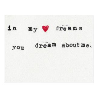 sueño sobre mí postal