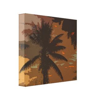 Sueños 1 de la palmera impresión en lienzo