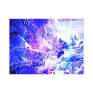 Sueños Amethyst de la noche de Yule Impresión En Lienzo