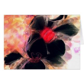 Sueños de la dicha floral tarjeta de felicitación