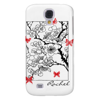 Sueños de la mariposa en iPhone3G rojo Funda Para Galaxy S4