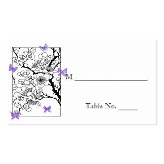 Sueños de la mariposa: Tarjetas violetas del lugar Tarjetas De Visita