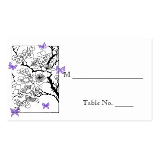 Sueños de la mariposa: Tarjetas violetas del lugar Tarjetas Personales