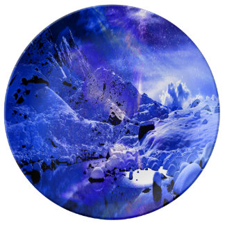 Sueños de la noche de Yule Plato De Porcelana