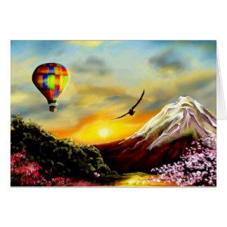 Sueños de la puesta del sol tarjeta de felicitación