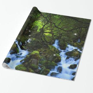 Sueños del bosque papel de regalo
