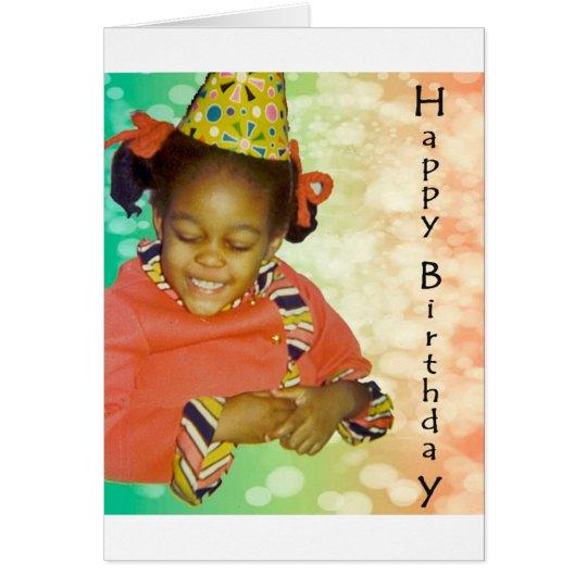 Sueños del cumpleaños tarjeta de felicitación