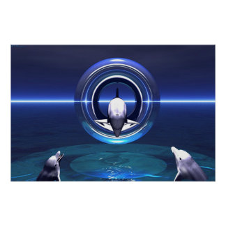 Sueños del delfín póster