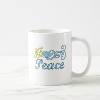 Sueños del día de fiesta de la sirena de la paz taza de café