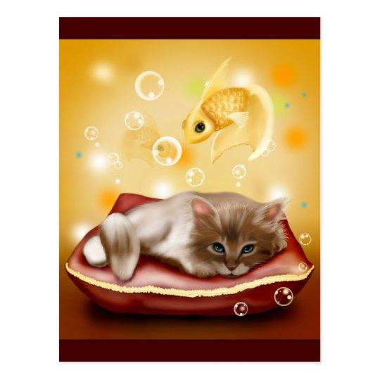 Sueños del gatito postal
