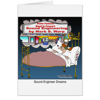 Sueños del ingeniero de sonido tarjeta de felicitación