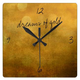 sueños del reloj de pared del oro