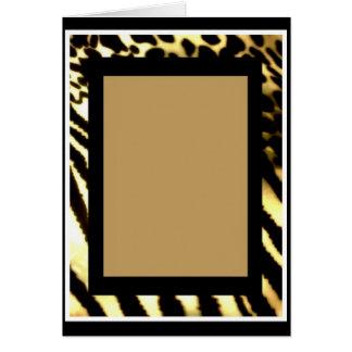 Sueños del safari confinados tarjeta de felicitación