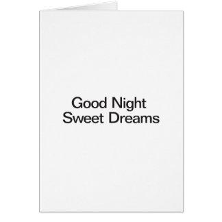 Sueños dulces de las buenas noches tarjeton