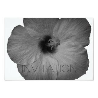 Sueños hawaianos en blanco y negro invitación 8,9 x 12,7 cm