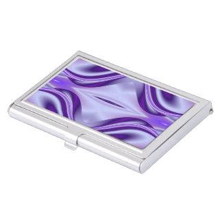 Sueños púrpuras del arco iris de la flor caja para tarjetas de visita