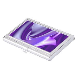 Sueños púrpuras del arco iris de la flor de la caja para tarjetas de visita