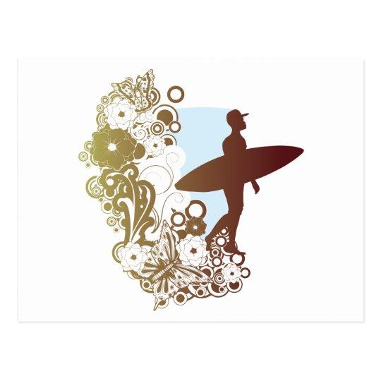 sueños que practican surf postal