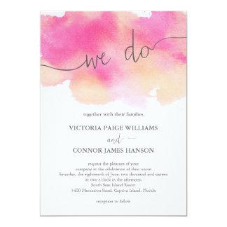 Sueños vibrantes que casan la invitación/el invitación 12,7 x 17,8 cm