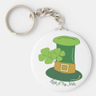 Suerte del irlandés llavero personalizado