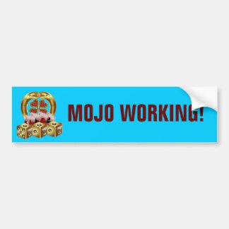 ¡Suerte rápida Mojo Workin de Mojo! Pegatina De Parachoque