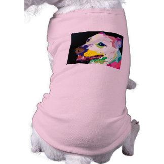 Suéter colorido del perrito de Pitbull - ropa del  Camiseta Sin Mangas Para Perro
