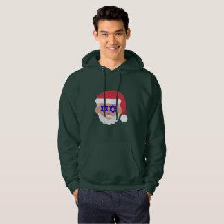 suéter con capucha del emoji de Papá Noel del