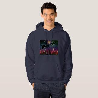 suéter con capucha encapuchado para hombre del