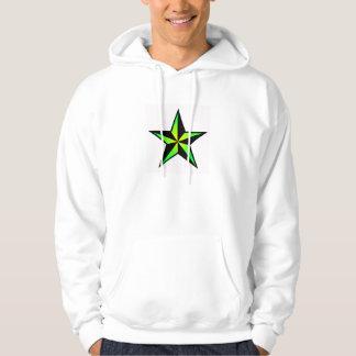 Suéter con capucha náutico verde claro de la