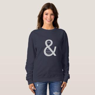 Suéter de la moda de las mujeres enrrolladas de