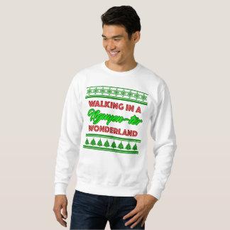 Suéter del blanco del navidad del país de las