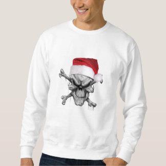 Suéter del cráneo del navidad de Papá Noel