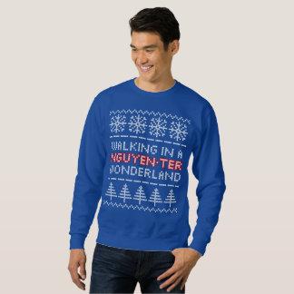 Suéter del navidad de la Punto-mirada del país de
