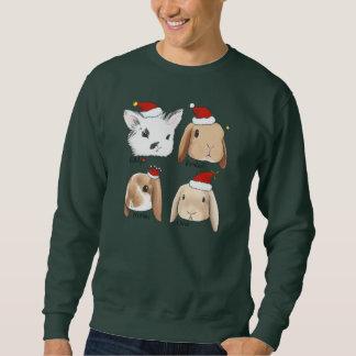Suéter del navidad del manojo del conejito