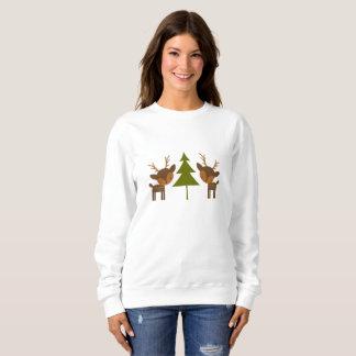 Suéter del navidad del reno de Brown