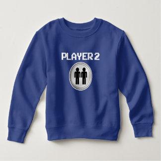 Suéter divertido de los muchachos del jugador 2