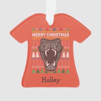Suéter feo de las Felices Navidad de la fauna de Adorno