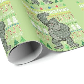 Suéter feo de las Felices Navidad de la fauna del Papel De Regalo
