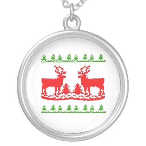 Suéter feo del navidad joyeria