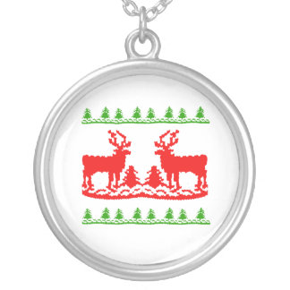 Suéter feo del navidad colgante redondo