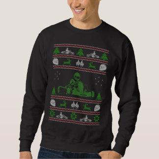Suéter feo del navidad de Karting