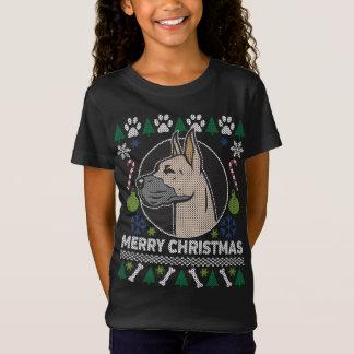 Suéter feo del navidad de la raza del perro de