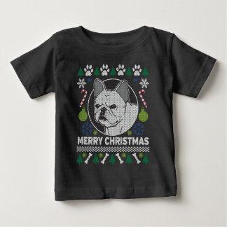 Suéter feo del navidad de la raza del perro del