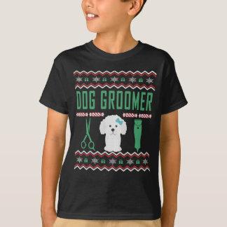 Suéter feo del navidad del Groomer del perro