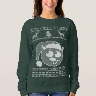 Suéter feo del navidad del navidad de Meowwy