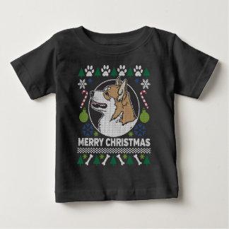Suéter feo del navidad del perro del Corgi Galés