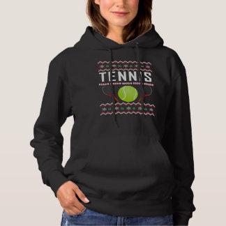 Suéter feo del navidad del tenis