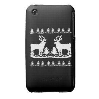 Suéter feo del navidad - iPhone 3 carcasas