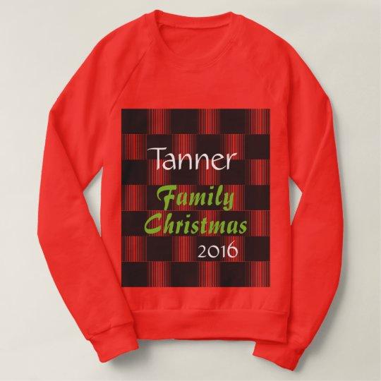 Suéter feo w/Year del navidad de la familia